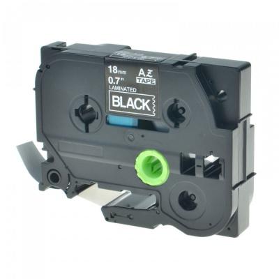 Kompatibilní páska s Brother TZ-345 / TZe-345, 18mm x 8m, bílý tisk / černý podklad