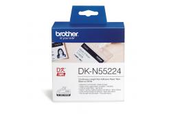 Brother DK-N55224, 54mm x 30,48m, bílá nelepicí papírová role
