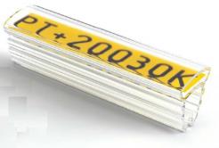 Partex PT+20018A návlečka 18 mm, 100ks,(4,0 10,0 mm), PT průsvitné pouzdro na štítky