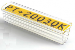 Partex PT+20018A návlečka 18 mm, 100 szt.,(4,0 10,0 mm), PT průsvitné pouzdro na štítky