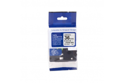 Kompatibilní páska s Brother TZ-S161/TZe-S161, 36mm x 8m, extr.adh. černý tisk / čirý podk