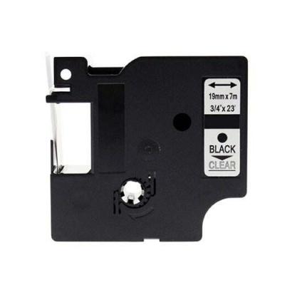 Kompatibilní páska s Dymo 45800, S0720820, 19mm x 7m, černý tisk / průhledný podklad