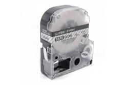 Epson LC-ST6KW, 6mm x 8m, czarny druk / przezroczysty podkład, taśma zamiennik