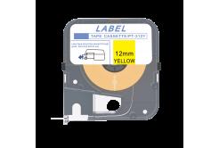 Max LM-312Y, 12mm x 8m, žlutá kompatibilní páska