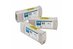 HP 91 C9482A 3ks světle šedá (light grey) originální cartridge