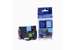Kompatibilní páska s Brother TZ-555 / TZe-555, 24mm x 8m, bílý tisk / modrý podklad