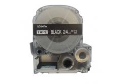 Epson LC-SD24KW, 24mm x 8m, bílý tisk / černý podklad, kompatibilní páska
