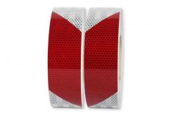 3M 823i Reflexní červeno-bílá páska, levostranná, šíře 50 mm