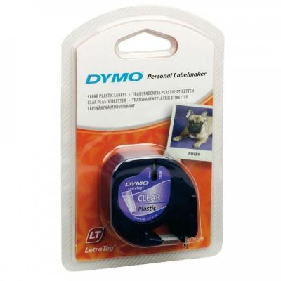 Dymo LetraTag 12267, S0721530, 12mm x 4m, černý tisk/průhledný podklad, originální páska