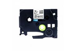 Kompatibilní páska s Brother TZ-SE4/TZe-SE4, 18mm x 8m plombovací, černý tisk/bílý podklad