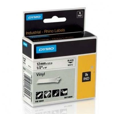 Dymo D1 18444, S0718600, 12mm x 5,5m černý tisk / bílý podklad, originální páska