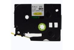 Kompatibilní páska s Brother HSe-621 8,8mm x 1,5m, černý tisk / žlutý podklad