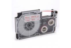 Kompatibilní páska s Casio XR-6WER 6mm x 8m červený tisk / bílý podklad