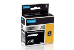 Dymo 18485, S0718170, 9mm x 5,5m, černý tisk/metalický podklad, originální páska