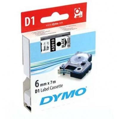 Dymo D1 43610, S0720770, 6mm x 7m černý tisk / průhledný podklad, originální páska