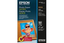 Epson Premium Glossy Photo Paper, foto papír, lesklý, bílý, 10x15cm, 200 g/m2, 50 ks, C13S042547, inkoustový