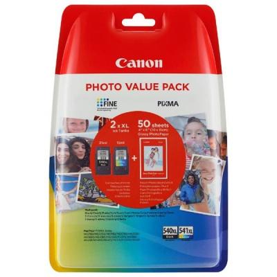 Canon PG-540XL + CL-541XL sada originální cartridge + fotopapír 50x (10x15)