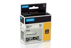 Dymo Rhino 18443, S0718580, 9mm x 5.5m černý tisk / bílý podklad, originální páska