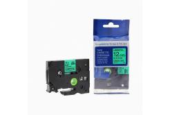Kompatibilní páska s Brother TZ-731 / TZe-731, 12mm x 8m, černý tisk / zelený podklad