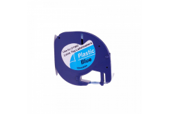Kompatibilní páska s Dymo 59426, S0721600 / S0721650 LetraTag 12mm x 4m, černý tisk / modrý podklad