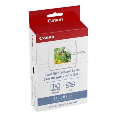 Canon Selphy CP XXX KC18IS bílé etikety pro termosublimační tiskárny 50x50mm