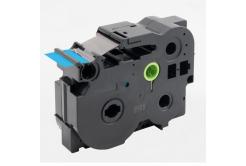 Kompatibilní páska s Brother TZ-FX561 / TZe-FX561, 36mm x 8m, flexi, černý tisk / modrý po