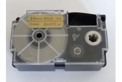Kompatibilní páska s Casio XR-24GD1 24mm x 8m černý tisk / zlatý podklad