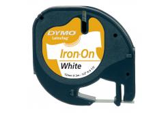 Dymo LetraTag 18770, S0718850, 12mm x 2m černý tisk / bílý podklad originální nažehlovací páska