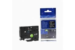 Kompatibilní páska s Brother TZ-335 / TZe-335, 12mm x 8m, bílý tisk / černý podklad