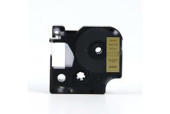 Kompatibilní páska s Dymo 40923, 9mm x 7m, černý tisk / zlatý podklad