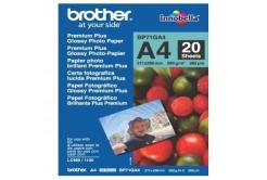 Brother Glossy Photo Paper, foto papír, lesklý, bílý, A4, 260 g/m2, 20 ks, BP71GA4, inkoustový