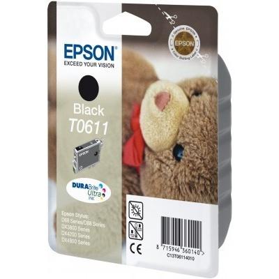 Epson T0611 černá (black) originální cartridge