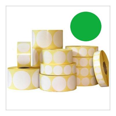 Samolepicí etikety kulaté 35 mm, 1000 ks, zelené papírové pro TTR, role