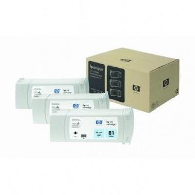 HP 81 C5070A světle azurová (light cyan) originální cartridge