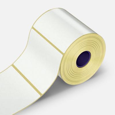 Samolepicí etikety 80x64 mm, 1000 ks, papírové pro TTR, role