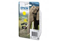 Epson originální ink C13T24344012, T2434, 24XL, yellow, 8, 7ml, Epson
