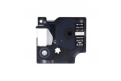 Kompatibilní páska s Dymo 1805435, 12mm x 5, 5m bílý tisk / černý podklad, vinyl