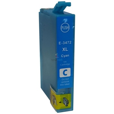 Epson T3472 azurová (cyan) kompatibilní cartridge