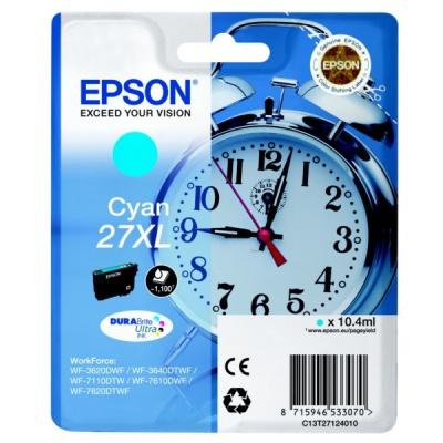 Epson T27124012, 27XL azurová (cyan) originální cartridge, prošlá expirace
