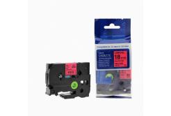 Kompatibilní páska s Brother TZ-441 / TZe-441, 18mm x 8m, černý tisk / červený podklad
