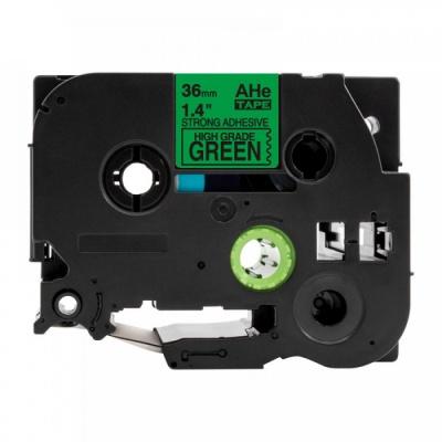 Kompatibilní páska s Brother TZ-S761 / TZe-S761, 36mm x 8m, extr.adh. černý tisk / zelený