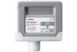 Canon PFI-301GY, 1495B001 šedá (grey) originální cartridge