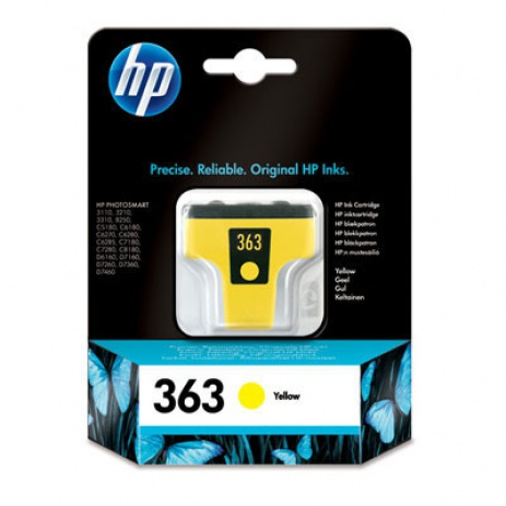 HP 363 C8773EE sárga (yellow) eredeti tintapatron