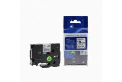 Kompatibilní páska s Brother TZ-FX541 / TZe-FX541,18mm x 8m, flexi, černý tisk / modrý pod