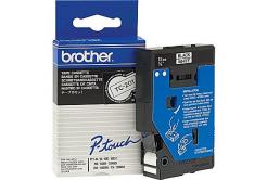 Brother TC-201, 12mm x 7,7m, černý tisk / bílý podklad, originální páska