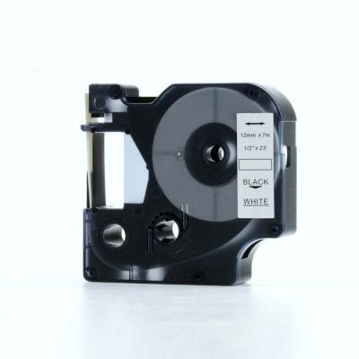 Kompatibilní páska s Dymo 45013, S0720530, 12mm x 7m černý tisk / bílý podklad