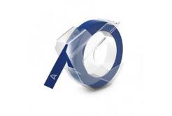 Kompatibilní páska s Dymo S0898140, 9mm x 3m, bílý tisk / modrý podklad