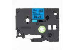 Kompatibilní páska s Brother TZ-FX531 / TZe-FX531,12mm x 8m, flexi, černý tisk / modrý pod