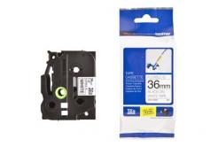 Brother TZ-FX261 / TZe-FX261, 36mm x 8m, černý tisk/bílý podklad, originální páska