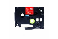 Kompatibilní páska s Brother TZ-455 / TZe-455, 24mm x 8m, bílý tisk / červený podklad